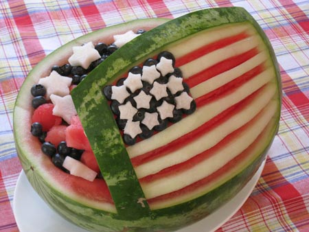 4th of July Watermelon salad bowl
