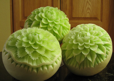Honeydew carvings